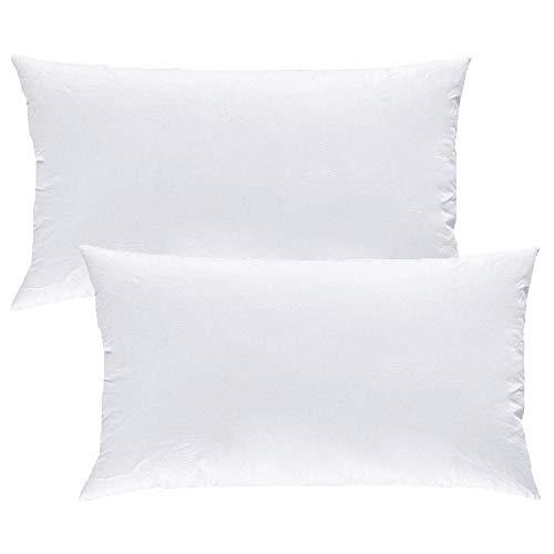 MACK - Premium Kissen Set mit Federfüllung | Federkissen für einen erholsamen Schlaf | 40x80 cm - 2er Set