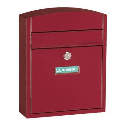 Arregui Compact E5736 Buzón Individual de Acero, tamaño S (DIN A5), rojo