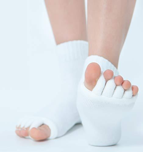 Zehenspreizer Socken | 1 Paar in Einheitsgröße | Gegen Hallux Valgus und zur Pediküre