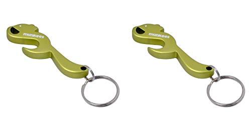 munkees 2 x Schlüsselanhänger Eichhörnchen-Anhänger Figur Flaschenöffner, Grün, Doppelpack, 341695