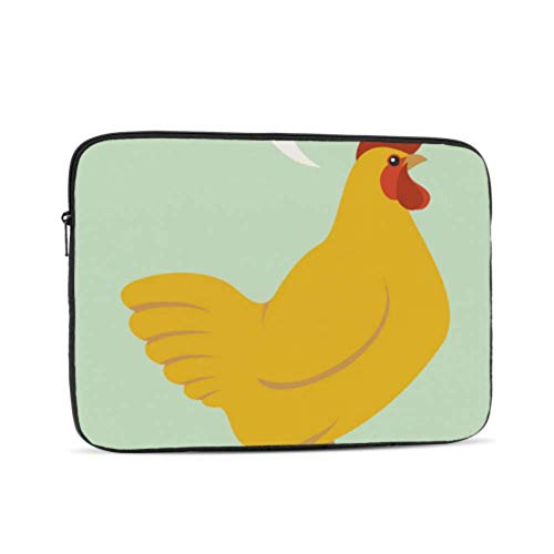 Accessories for MacBook Pro Cartoon Yellow Chicken Text MacBook Covers Multi-Color & Size Choices10/12/13/15/17 Inch Computer Tablet Briefcase Carrying Bag