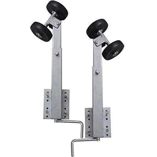 vidaXL 2x Sliprollen 59-84cm Pendel Bootstrailer Sliphilfe Bootsanhänger