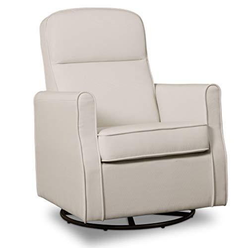 Delta Children Blair Slim Nursery Glider Swivel Rocker Chair, Cream