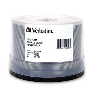 Verbatim - Disc DVD-RAM 9.4GB R/W double sided DataLifePlusHardcoated50/spdle 3X