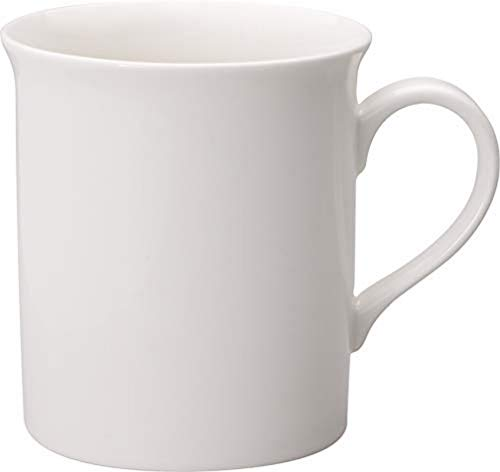 Villeroy & Boch Twist White Taza de café 300 ml, Altura 9 cm, Porcelana Premium, Blanco