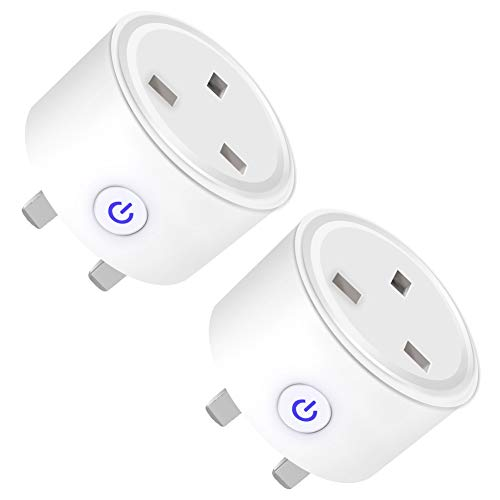 Smart Plug WiFi Outlet Smart Sockets Compatible with Alexa Google Home and IFTTT,2 Pack Mini Plug Wireless Remote Control Timer Plug Switch,No Hub Required