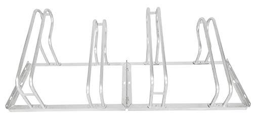 devil ray - Soporte para bicicletas (4 plazas, galvanizado en caliente, atornillado por un lado, 140 cm (ancho) x 56 cm (profundidad) x 40 cm (altura).