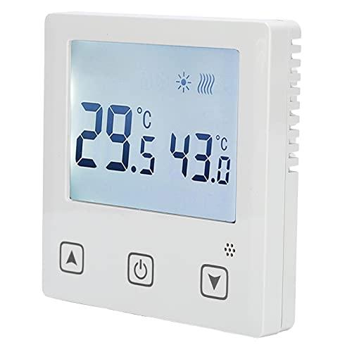 Surebuy Termostato de calefacción por Suelo Radiante, termostato Estable Duradero para Comedor para Sala de Estar