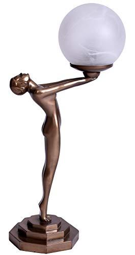 Metropolis Art Deco Lampe erotischer Frauenakt Tischleuchte Bauhaus IS096 Palazzo Exklusiv
