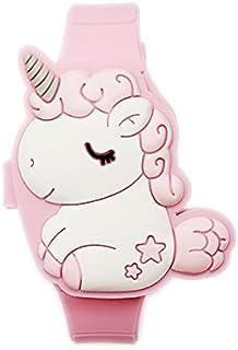 Grazioso orologio digitale per bambini a forma di coniglio, colore rosa, orologio LED da ragazza, alla moda, in silicone, ...