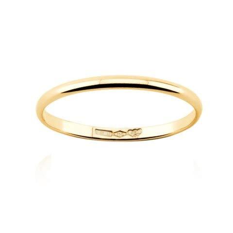 Alianza de oro de 18 quilates de 1 gr, oro blanco, amarillo y rosa, 1,8 mm de ancho. Bianco Giallo Rosa