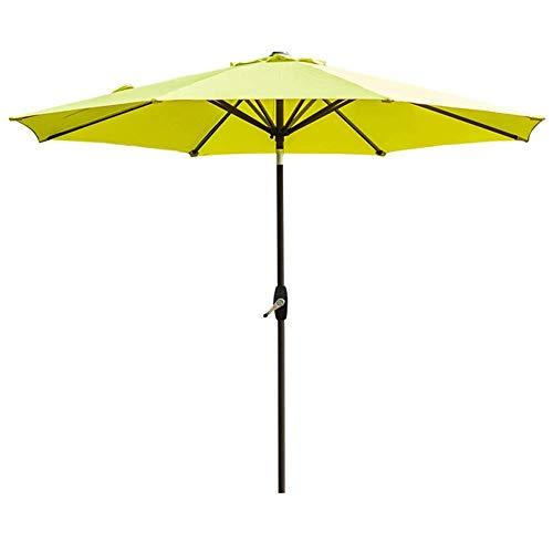 270cm terras tuintafel paraplu w/tilt aanpassing, perfect voor buiten, strand commerciële evenement markt, camping, zwembad (kleur : Lake blauw)