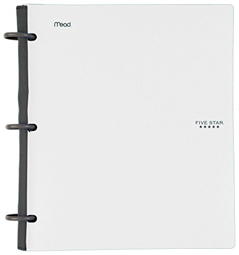 Five Star Flex White NoteBinder, 1-Inch Capacity, 11.5 x 11 Inches, Notebook and Binder All-in-One, Pack Of 6 Photo #2