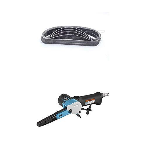 Hazet 9033-480/10 Schleifband-Satz + Bandschleifer (stufenlose Drehzahlregulierung, für schmale Flächen) 9033N-4