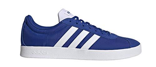 adidas VL Court 2.0, Zapatillas de Deporte Skateboard Hombre, Azul (Team Royal Blue/FTWR White/FTWR White), 43 1/3 EU
