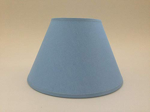 20,3cm hellblau Baumwolle Stoff Lampenschirm Licht Lampe Tisch handgefertigt