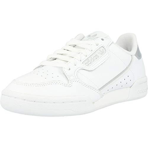 adidas Continental 80 W, Scarpe da Ginnastica Donna, Ftwr White/Ftwr White/Silver Met, 38 EU