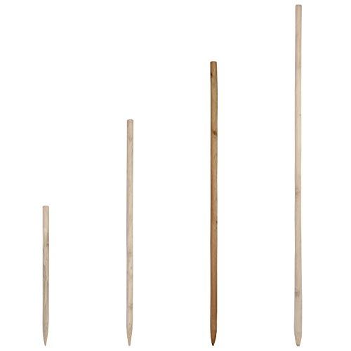 Holzstab für Rosenkugeln Gartenkugeln in verschiedenen Längen aus massivem Holz - Stock Stab für Dekokugeln Kugel Dekoration - Rosenkugelstab für die Befestigung der Kugel (100 cm)