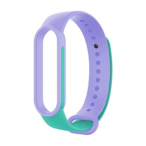 Correa de silicona para MI BAND 6 5 4 Reloj de reemplazo de doble color Accesorios de reloj inteligente (Color : 8, Size : For Amazfit Band 5)