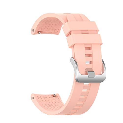MPWPQ Correa para Huawei Honor Watch GS Pro para Honor Magic Watch 2 de 46 mm de repuesto de silicona para pulsera deportiva de 22 mm (color de la correa: rosa claro, ancho de la correa: 22 mm)