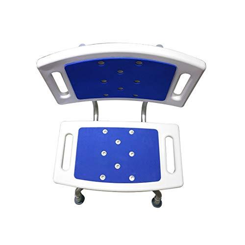 RONGW JKUNYU Fold-Down-Brause-Wand-Sitz mit Legsin helfen die älteren Menschen mit Rückenlehne, Badehocker, Badezimmer Badezimmerrollstühle
