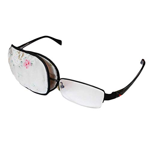 Gafas de seda para adultos Eye Eyek Amblyopia Strabismus Lazy Eye Parches-Flor