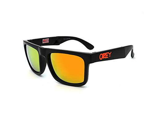 RTGreat Folding Sunglasses Gafas de sol KEN BLOCK Designer Sun Glasses Reflective Coating Square Spied For Men And Women Rectangle Gafas De Sol C2