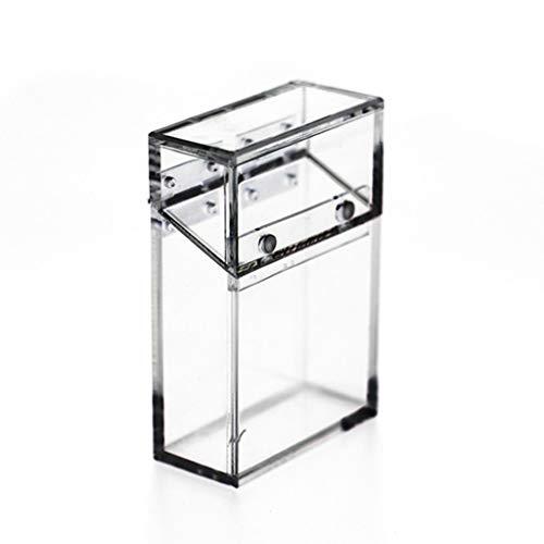 M-JJZX Caja de Cigarrillo de plástico acrílico Caja de Cigarrillo Transparente Caja de Cigarrillo Transparente Caja de visualización de Cigarrillos