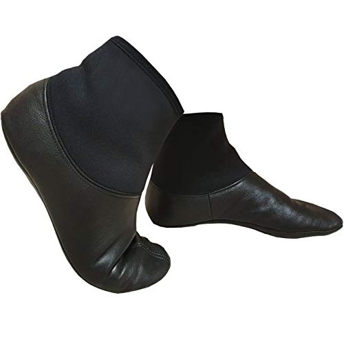 TERMAL MEST - Ledersocken aus echtem Leder und Neopren-Hals - qualitativ, wasserdicht - Einfaches Anziehen wie eine Socke - Masd Mesd Mast Khuff Khuffain Gebetssocken Whudu Wudu Corap Mash Mesh (40)