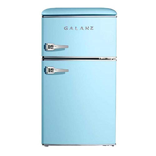 Galanz GLR31TBEER Retro Fridge, 3.1 Cu.Ft, Blue
