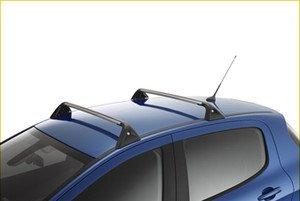 Auténticas barras portaequipajes de techo con sistema de bloqueo para Peugeot308Hatchback9616W2.