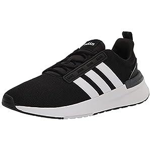 adidas Men's Racer TR21 Trail Running Shoe, Black/White/Black, 9