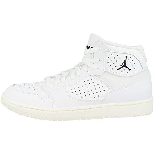 Nike Jordan Access, Zapatillas Altas Hombre, Multicolor (White/White/Pale Ivory/Metallic Gold 100), 43 EU