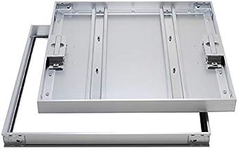 床点検口 〜標準モデル〜 NHEⅡAGO/AGOK アルミ目地ー磁気タイル仕上用ー落とし込み取手(鍵無し/鍵付き) (600×600 鍵付き)