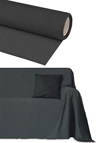 Funda para sofá de algodón de 2, 3, 4 y 5 plazas, artesanal, no necesita planchado, para decoración de sofá, esquinas, chaise longue (gris antracita 4 plazas)