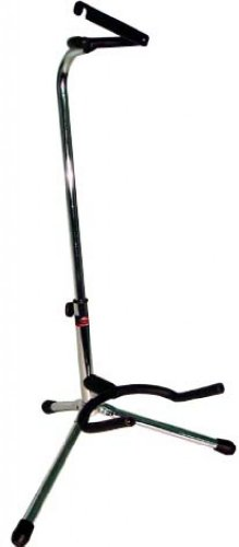 Stagg SG-A100CR Neck Fork with Safety Strip Tripod Guitar Stand with Folding Legs - Chrome
