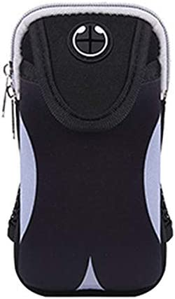 1PC Waterproof Sports Arm Bag Gym Cell Phone Running Armband 6.5inches (Gray, 6.5inch)