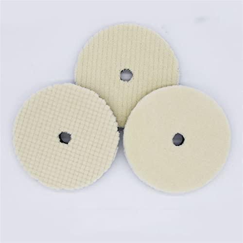 Lixiaonmkop 7-Zoll-Wollscheibe grob/mittel/feinschleifendscheibe Polierwolle-Woll-Schwammwolle für Auto Poliermaschine Wachspuffing (Color : Gold)