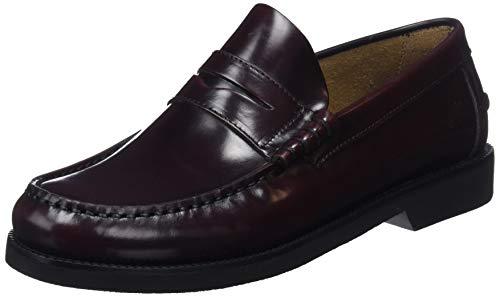 Fluchos | Mocasín de Hombre | Stamford F0047 Florentick Burdeos Zapato de Vestir | Mocasín de Piel de Vacuno de Primera Calidad | Cierre con | Piso de Goma Personalizado