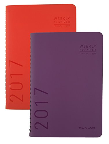 """AT-A-GLANCE Weekly / Monthly Planner / Appointment Book 2017, 4-3/4 x 8"""", Fashion, Color Selected For You May Vary (70-108X-00)"""