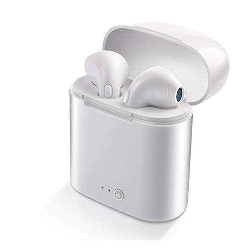 I7S TWS Wireless Bluetooth 5.0 Kopfhörer Mini Headsets Ohrhörer Mit Mikrofon Für iPhone Samsung S6 S8 Für Xiaomi Huawei Lg Ios Handys Ladebox Weiß 5.0