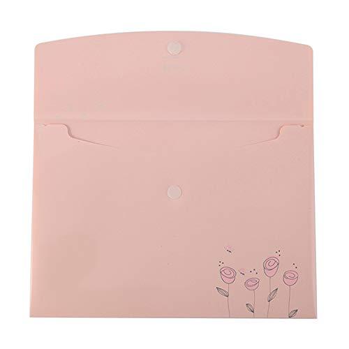 GaoJinZhuan Bürobedarf Kleberbeutel A4 Knopfbeutel Aktentasche Student Test Papier Aufbewahrungstasche (12 für EIN Paket) (Farbe : Purple)