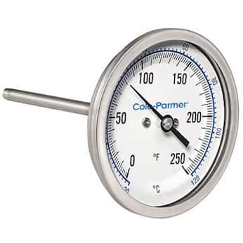 """Ranking TOP9 Cole-Parmer Industrial Bombing new work Bimetal Thermometer 3"""" Dial Back C"""