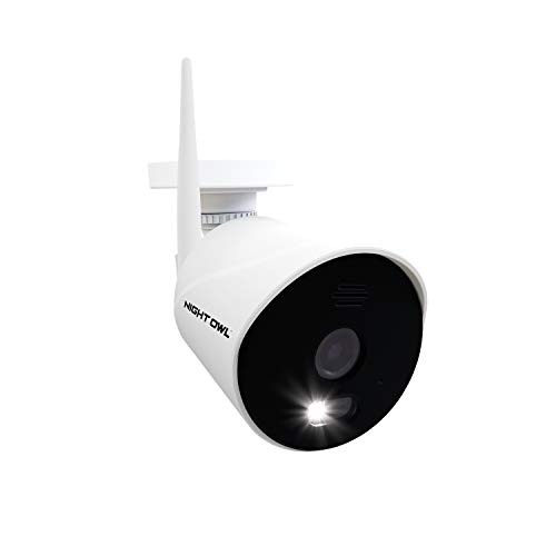 Night Owl AC Powered 1080p HD Wi-Fi IP Indoor/Outdoor Camera with 100 ft. of Night Vision, 2-Way Audio, Built-in Spotlight, Wide Viewing Angle and Free Remote Viewing App