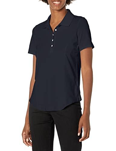 Riders by Lee Indigo Women's Morgan Short Sleeve Polo Shirt, Dark Navy, X-Large