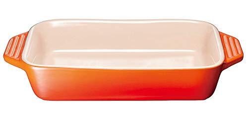 ル・クルーゼ レクタンギュラーディッシュ 910419 26cmオレンジ [ 330 x 205 x 55mm1300cc ] [ 料理道具 ] | キッチン 台所 飲食店 おしゃれ かわいい 自宅用 贈り物