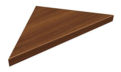 南海プライウッド 飾り棚 リブニッチ コーナータイプ ブラウンウォールナット 40×380×380mm LNC4303-RJ