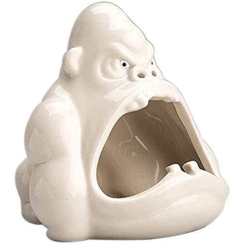 OH Posacenere Ceramica Cartone Animato Animale Posacenere Orangutan Anti-Cenere Auto Grande Capacità Posacenere Soggiorno Ufficio Decorazione Regalo per Fidanzato Posacenere Arredam