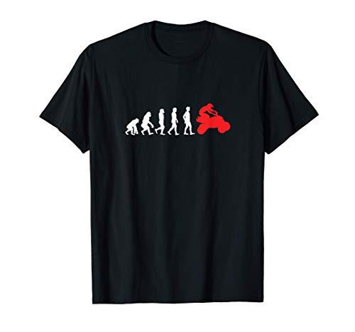 Evolution Quadfahrer Quad Rennen Motorrad ATV Sport Geschenk T-Shirt