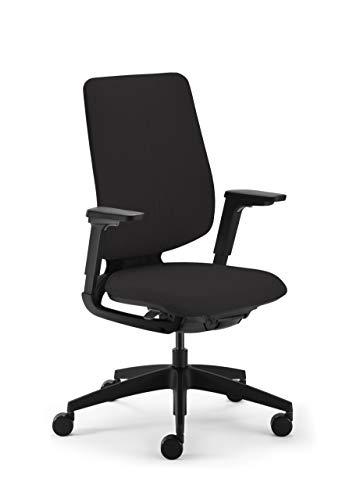 Sedus se:Flex Bürostuhl, Drehstuhl, mit Armlehnen, Vollpolster, Kunststoff, Schwarz, Polster